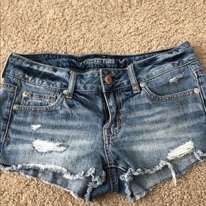 AEO Distressed Jean Shorts